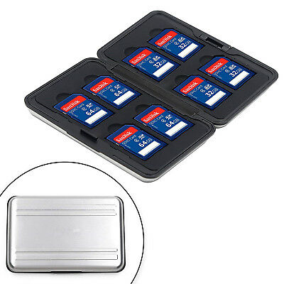 Aluminum Memory Card Wallet 16 Micro SD SDHC Protecter Storage Holder Case USA
