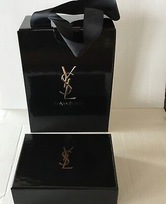YSL Yves Saint Laurent Empty Storage Gift Box Beauty  Black LOT 2
