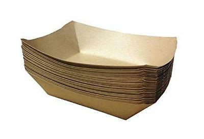 """URPARTY - 50 pcs Classic Brown Disposable Paper Food Serving Tray 7"""" x 5"""" x 1.5"""""""