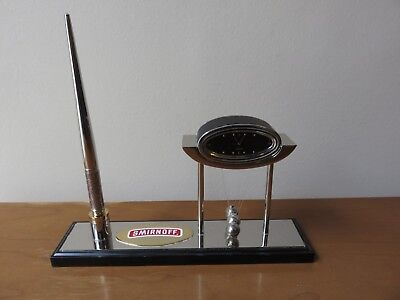 RARE Collectible SMIRNOFF desktop PEN, CLOCK and THERMOMETER