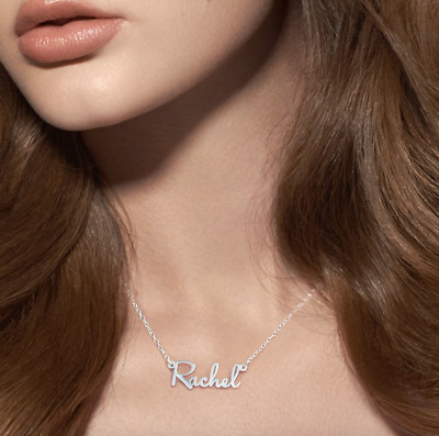 Personalized Sterling Silver Mini Name Necklace | Gold | Rose Gold | Script