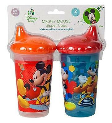 Disney Mickey Mouse Clubhouse Slim Sippy Cups, Red/Blue, 2 Count