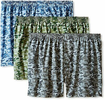 Fruit Of The Loom Men's 6 Pack Assorted Camo / Camouflage Woven Boxers - 2XL