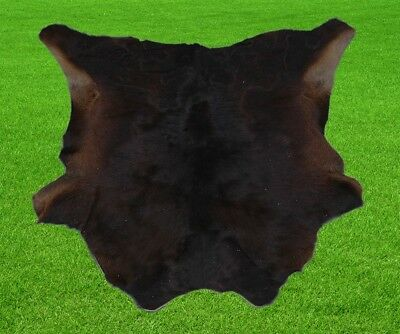 "New Calfhide Rugs Area Cow Skin Leather 6.04 sq.feet (30""x29"") Calf hide A-1208"