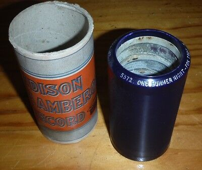 Edison Cylinder phonograph Record Fox Trot 5372 B Rolfe One Summer Night