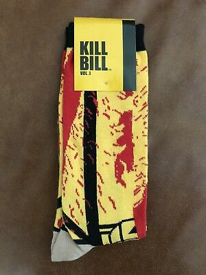 NEW! Kill Bill Volume 1 Yellow and Red Socks | Loot Crate *Exclusive