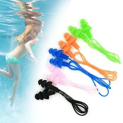 1 paire Swimmer durable Bouchons d'oreille Ear Corded plug Mold Réutilisable AT