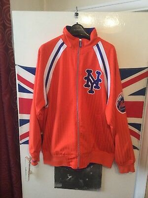 New York Mets Mitchell and Ness MLB Authentic Jacket Size L