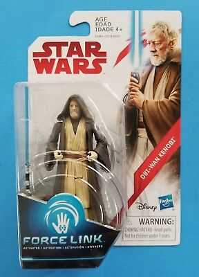 "Star Wars The Last Jedi TLJ 3.75"" Teal Wave 2 Obi-Wan Kenobi Action Figure"