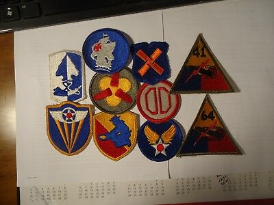 Vintage WW 2 Patches. lot of 10