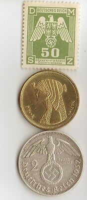 "-*WWII - *german  coin / stamp  + *egyp. ""CLEOPATRA"" coin"