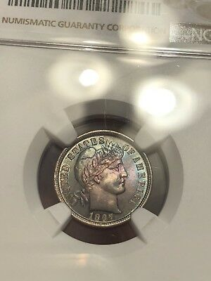 1897 NGC MS 62 Monster Toned Barber Dime ASK FOR A VIDEO THIS IS A STUNNER!!!