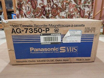 Panasonic AG-7350-P S-VHS PRO VCR Video Cassette Recorder NEW IN ORIGINAL BOX !!