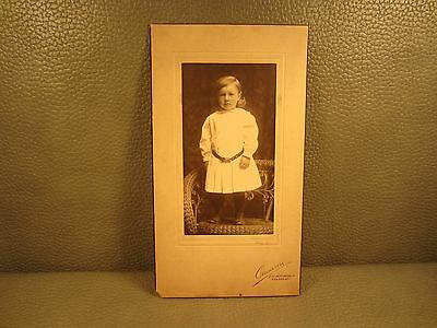 Victorian Antique Cabinet Card Photo of Little Girl