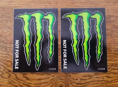 """Monster Energy Drink DECAL STICKER """"4 x 3 inches"""" Lot of 6"""