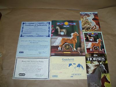 Breyer Certificate of Authenticity Just About Horses Seth Fan Fare Silver NR