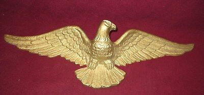 """Large Cast Brass Wall Hanging Eagle 29"""" Wingspan Emig Products #331"""