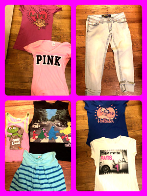 Hollister Love Pink Aero  Forever 21 Teen Spring Summer Girls Clothes (10 PC)