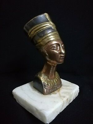 Antic.Pharaonic statue (Nefertiti) Ancient copper