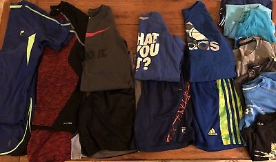 Boys Size 8-10 mixed summer lot Nike, Under Armour, Adidas