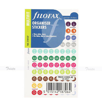 Filofax Mini/Pocket Size Stickers NotePaper Refill Insert Plan Organiser -210137