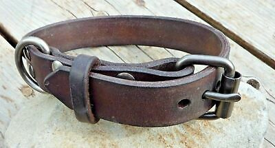 Handmade Leather Dog Collar - 100+ Variations - from XS Puppies to XXL Breeds