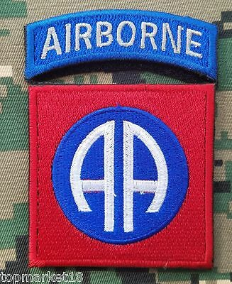 Wwii Us Army 82Nd Airborne Division Paratrooper Shoulder Hook Patch Embroidered