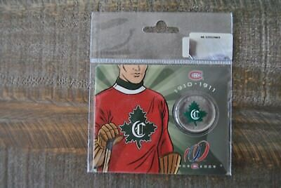 1909-2009 Montreal Canadiens Coin 5 Of 6 1910-1911 Jersey