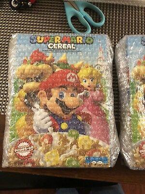 New! Sealed! Super Mario Cereal - New Box Design! Bundle Of 2  Shipped In Box!