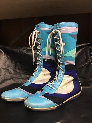 Vintage Emilio Pucci Boots. Size 7 / 37.5 pattern Hard to find! Italian