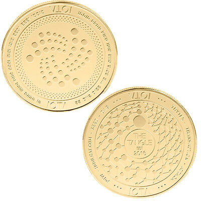 Golden IOTA 2016 Storage Commemorative Coin Collection Art Gifts Souvenir New