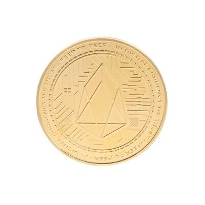 Golden EOS Digital Currency Commemorative Coin Collection Art Gift Souvenir