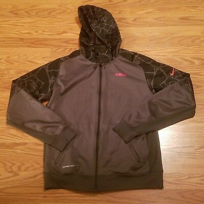 26b1156d122c Nike Therma Fit Lebron James Gray Black Long Sleeve Jacket Mens Size Large  A7-
