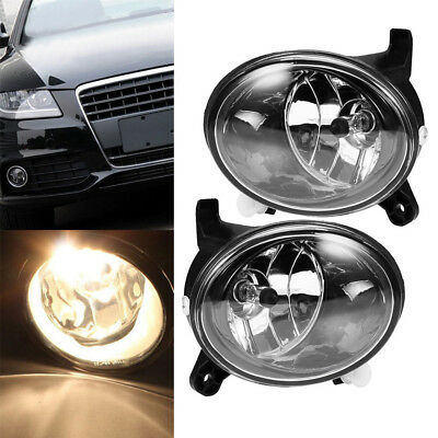 CLEAR LENS FOG LIGHT BUMPER DRIVING LAMP+BULB Fit AUDI A4 S4 B8 SEDAN 2009-2012