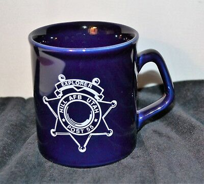 Hill AFB Utah Coffee Mug Air Force Drinkware Jet Aircraft Cup Souvenir Mug Blue