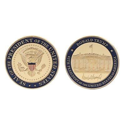 US 45th President DOnald Trump Commemorative Coin Collection Arts Souvenir Gifts