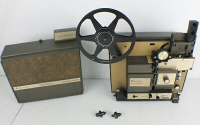 "Vntg Bell Howell 469A Autoload 8mm & Super 8 Multi Motion Projector  ""As- Is"""