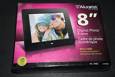 """Aluratek 8"""" Digital Photo Frame with Auto Slideshow Feature 800 x 600 resolution"""