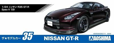 Aoshima 53171 The Model Car 35 Nissan R35 GT-R Spec-V '09 1/24 scale kit from JP