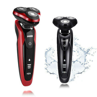 Gold&Red Rotary 3D Rechargeable Washable Men's Cordless Electric Shaver Razor US