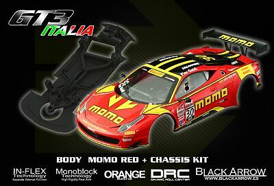 Black Arrow BABCKIT02A Ferrari GT3 Italia Kit Carrosserie MOMO RED + Châssis
