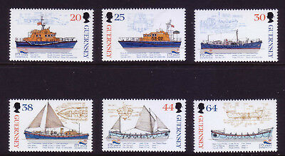 1999 Guernsey. 175th Anniv of Royal National Lifeboat Institution SG 827/32  MNH