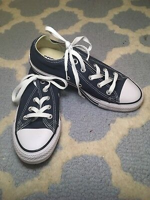 CONVERSE CHUCK TAYLOR ALL STAR Lo NAVY CASUAL SNEAKERS MENS 4 WOMENS 6 SHOES