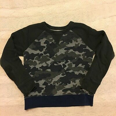Crewcuts Explore Without Footprints Boys 6 7 Camouflage Grey Sweater Top