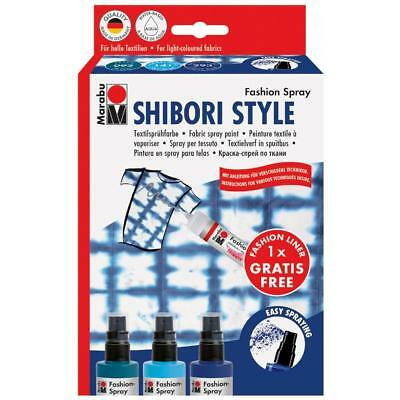 Marabu Textilsprühfarbe ´Fashion-Spray´, Set SHIBORI STYLE (4007751697561)