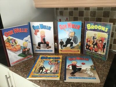 Oor Wullie and The Broons Book Collection Great Condition ....nostalgia