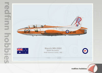 Warhead Illustrated Macchi MB-326H RAAF Roulette A7-089 Aircraft Print
