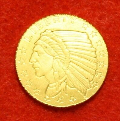 INCUSE INDIAN DESIGN 1/10 oz .9999% FINE GOLD GREAT COLLECTOR COIN GIFT AIRTITE