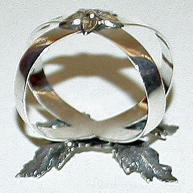 1878 Antique Sterling Silver Napkin Ring, Sheffield, by Martin & Hall