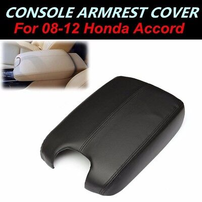 PU Leather Armrest Center Console Lid Cover Black For Honda Accord 2008-2012 NEW